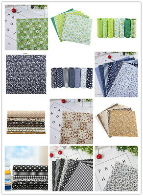 Cotton Fabric DIY Assorted 7pcs 25*25cm Squares Pre-Cut Bedding Kit Quarters