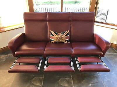 Italian Three Seater Sofa Vintage Antique Vintage Retro Barbers Shop Chair
