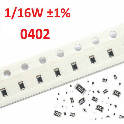 1/16W 0402 SMD/Chip Resistors ±1%- Full Range of Values (0Ω to 10MΩ)