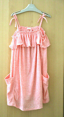 NEXT Girls Pink Jersey Strappy Dress  Age 7 Years BNWT