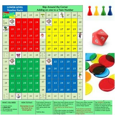 Board Game Math's Teen Numbers Primary Teaching Resources Kids Learning
