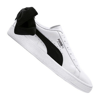 d77820560d7 PUMA BASKET BOW SB BLANC NOIR Baskets Femme White Black Sneakers ...
