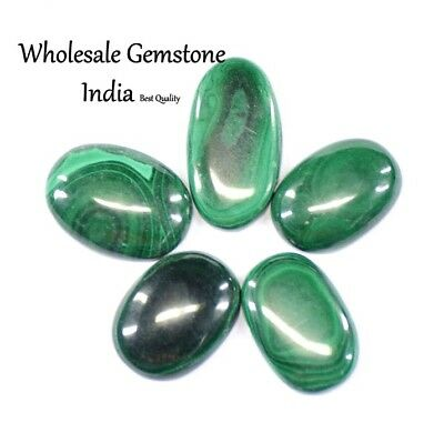 Awesome Natural 83.20 Ct/ 5Pcs Unheated Green Malachite Lot Loose Gemstone