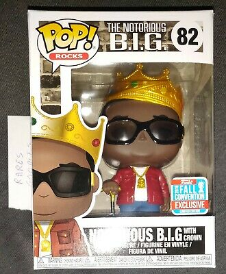 Funko POP! - Notorious B.I.G. 8  #82 BIG with Crown NYCC 2018 exclusive