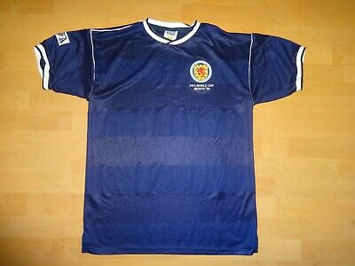 04262bb8a Score Draw 1986 Scotland Fifa World Cup home football jersey shirt size L  Large