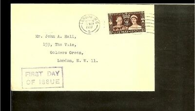 1937 - Great Britain FDC - Famous People - Royalty [BH239]