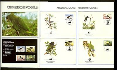 [A32_06] 1984 - Dominica WWF Stamps MNH + FDC Mi. 836-839 - Animals - Caribbean