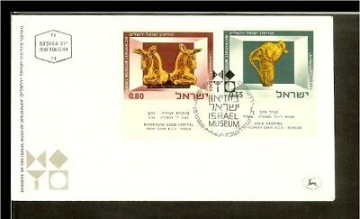 [D05_47] 1966 - Israel FDC Mi. 374-375 - Art collection of the Israel museum