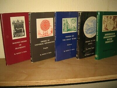 The Adepts (In the Western Tradition) 5 Volumes Hardbacks  1976 Manly P Hall