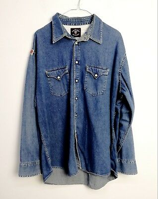 new style af05d fb303 Camicia Jeans Indian Vintage Denim Shirt Made In Italy Tg. Xl C318
