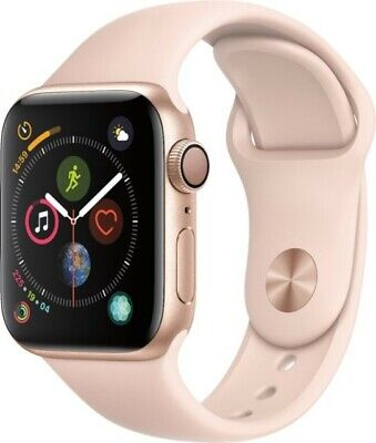 Apple Watch Series 4 40mm Gold Aluminum Case with Sm Pink Sand Sport Band (GPS)