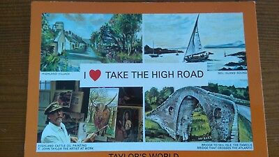 I Love Take The High Road  Unused Postcard