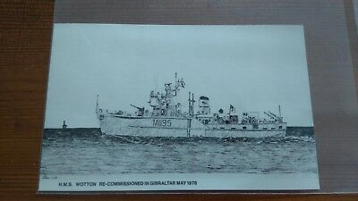 Hms Wotton Unused Postcard