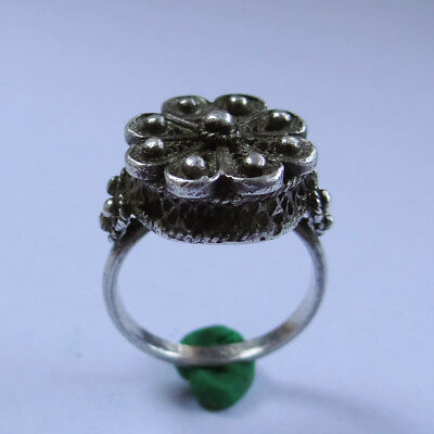 Old European Filigree Silver Ring
