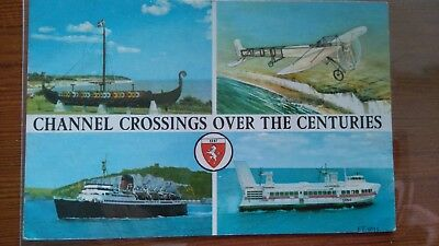 Channel Crossings Over The Centuries Unused Postcard