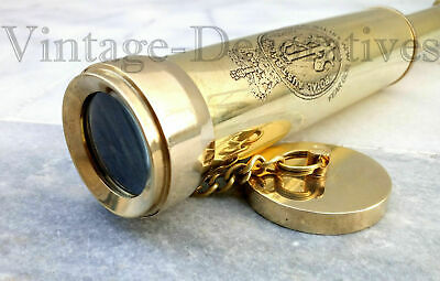 Nautical Hand-Made Vintage Solid Brass Engraved Telescope Nautical Lovers item
