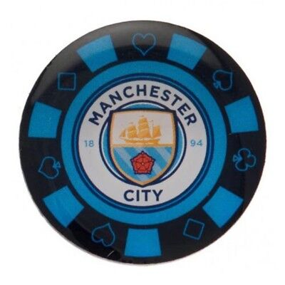 Manchester City F.c. Men's Poker Chip Badge Official Merchandise One Size