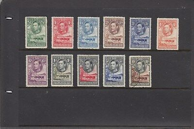 Bechuanaland 1938 KGV1 Boabab Tree & Cattle. SG118-SG128. MLH