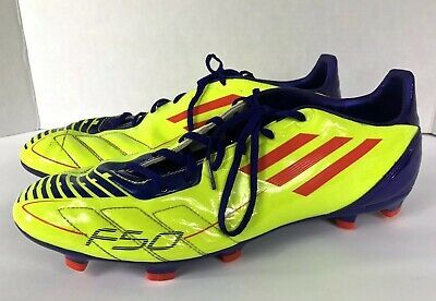 best sneakers 8fac4 280eb Mens ADIDAS F50 F10 Traxion Soccer Cleats- Neon Yellow- Size 12