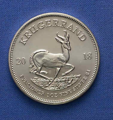 2018 South Africa Krugerrand 1 oz Silver No Reserve.