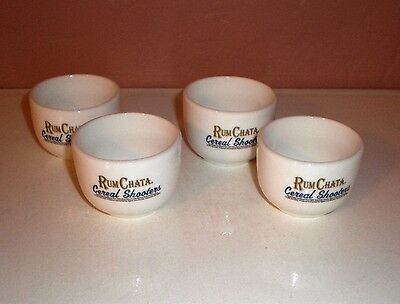 """Set of (4) Rum Chata Caribbean Rum """"Cereal Shooters""""  Shot Glass EUC"""