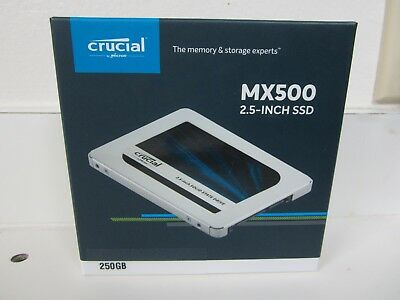 """NEW Sealed Crucial Micron MX500 250GB Internal 2.5"""" 7mm Solid State Drive SSD"""