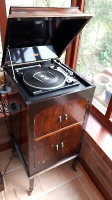 Edwardian Gramaphone Cupboard with Record player.
