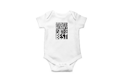 Me And My Daddy Agree That Mummy Is The Best Babygrow - Mother's Father's Day