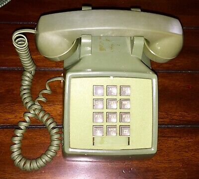 Vintage Green Western Electric Bell System Touch Tone Telephone Desk Phone