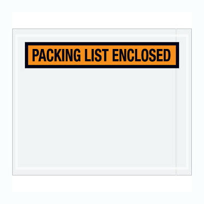 """1000 Packing List Enclosed Envelopes 5.5""""x10"""" PANEL FACE Pouch"""
