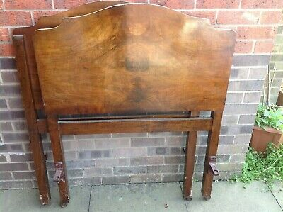 2 x vintage Vono 1920s single bed heads and foot boards in Burr Walnut