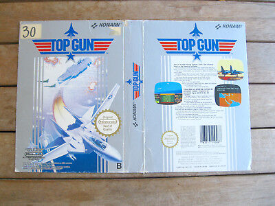 TOP GUN - NINTENDO Famicom/NES COVER - NO CARTUCCIA