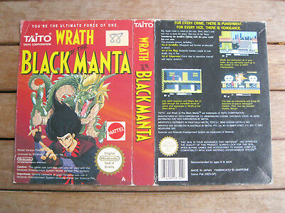 WRATH OF THE BLACK MANTA - NINTENDO Famicom/NES COVER - NO CARTUCCIA