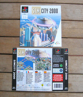 Sim City 2000 (1995) Playstation 1 Cover Originale, No Disco