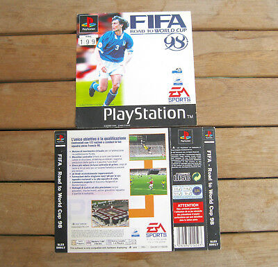 FIFA - Road to World Cup 98 (1997) PLAYSTATION 1 COVER ORIGINALE, NO DISCO