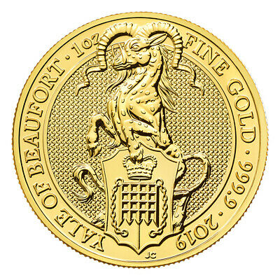 1 oz 2019 Royal Mint Queen's Beasts | Yale of Beaufort Gold Coin