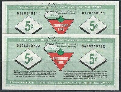Canadian Tire Money - Changeover set of notes from S31 to S32 - 2013-2013 - RARE