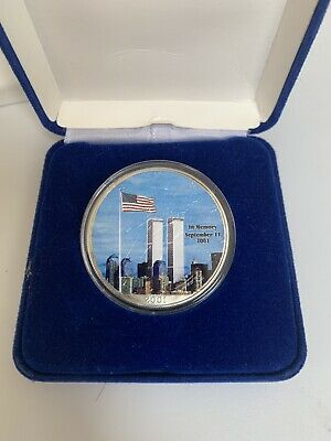 2001 1 oz. .999 Fine Silver Twin Towers Commerative US Silver Eagle Coin