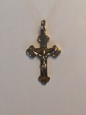 Fab Antique Vintage Simple 9ct Gold Cross Crucifix Stamped 9c In Two Places 1.1g Fine Jewelry