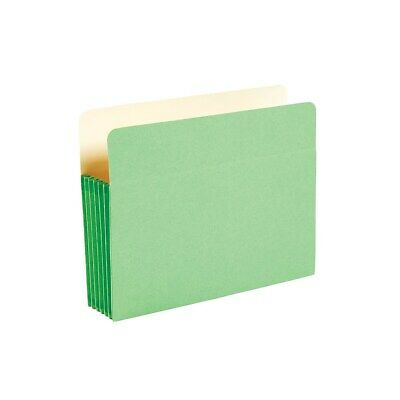 """Staples Colored Top Tab File Pockets 5 1/4"""" Expansion Letter Green 25/Bx 614655"""
