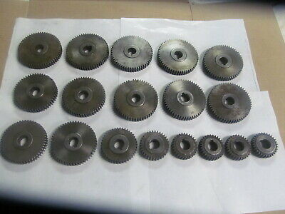 """Set Of Timing Gears For Brown & Sharpe """"00"""" Screw Machine (18) Gears, Usa Made"""