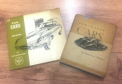 Rare 'How to Draw Cars' by Frank Wootton & 'Drawing Cars' by John Raynes Books