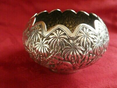 Indian silver spice or finger bowl 83g