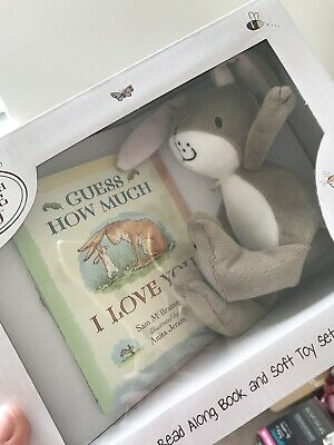 Rainbow Designs GUESS HOW MUCH I LOVE YOU BOOK AND SOFT TOY SET Baby Toys BN