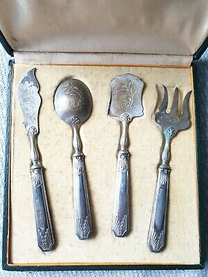 Vintage French 950 Silver Hors D'Oeuvres Cutlery Set Hallmarked 1920/30s