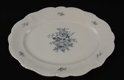VTG Johann Haviland Bone China Bavaria Germany Oval Serving Platter BLUE BOUQUET