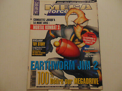 • Mega Force Sega N°44 Mortal Kombat 3 Earthworm Jim 2 Micro Machines 96 •