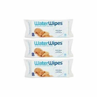 3 Pack WaterWipes Sensitive Baby Wipes, 60 count