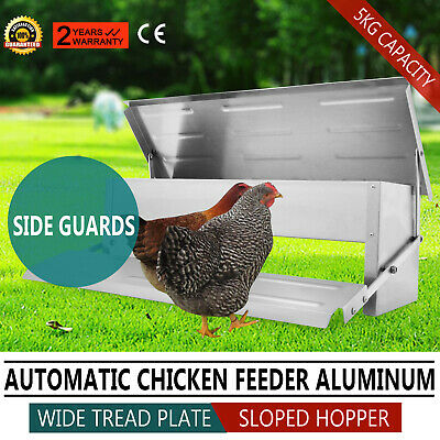 New Automatic Aluminum Chicken Chook Poultry Feeder Treadle Feed Fully Assembled
