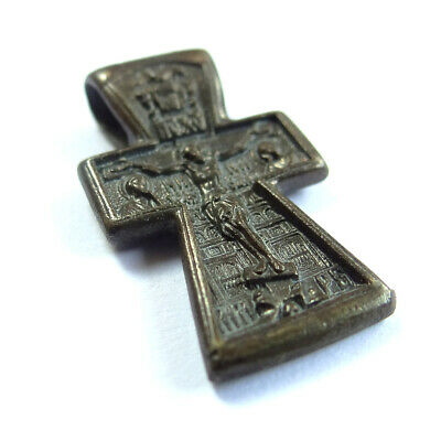 Medieval Ancient Artifact Bronze Orthodox Cross